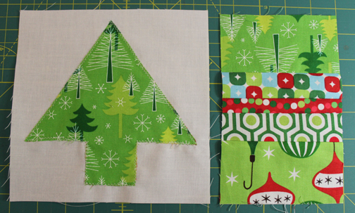 Holiday mug rug assembly