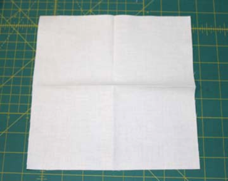 Bckground fabric after 2 folds