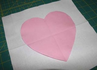 Heart w bckgrnd fabric