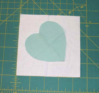 Small heart w bckgrnd fabric