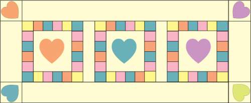 Valentine runner full construction graphic