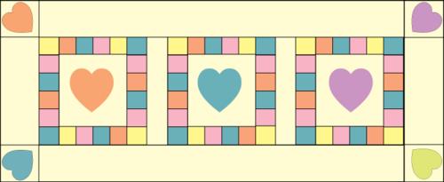 Valentine runner full construction graphic