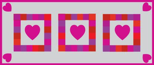 Red purple pink valentine runner color option