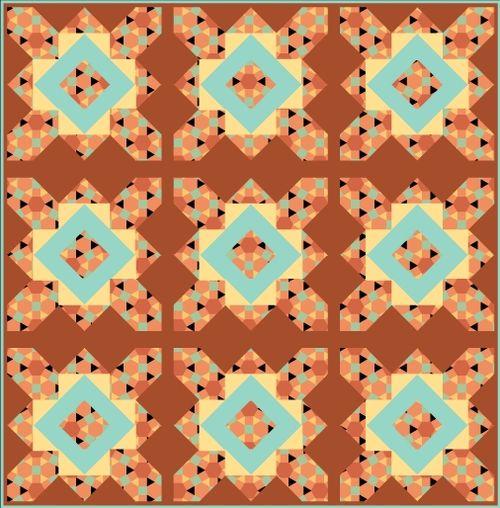 Harding Hill Designs All Square with Sashing 100 Blocks