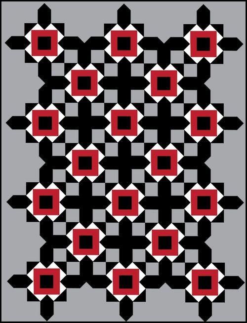 Harding Hill Designs All Square On Point Grey 100 Blocks Vol 8