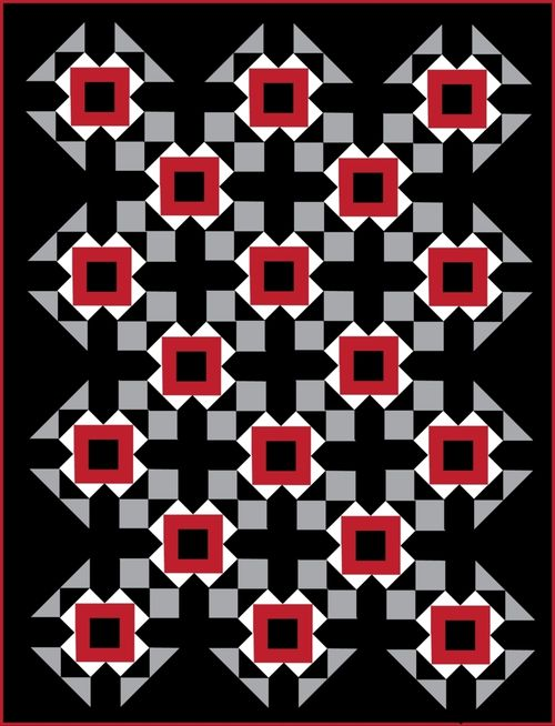 Harding Hill Designs All Square On Point Black 100 Blocks Vol 8