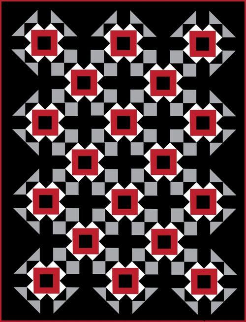 Harding Hill Designs All Square On Point Black 100 Blocks Vol 8