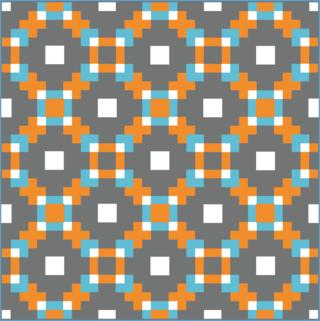 Harding Hill Designs 100 blocks straight set orange blue