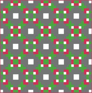 Harding HIll Designs 100 blocks vol 9 straight set green red