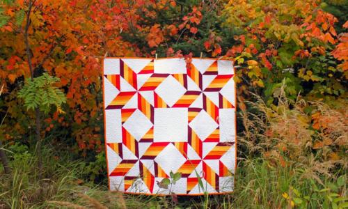 Harding Hill Designs - Big Sky Big Star Pattern - One Block Remix