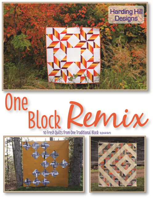 Harding Hill Designs - One Block Remix Book Front Cover
